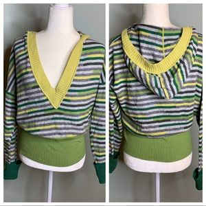 United Colors of Benetton striped hooded sweater